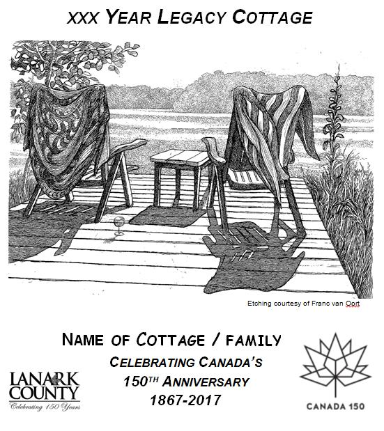 sample of Legacy Cottage plaque