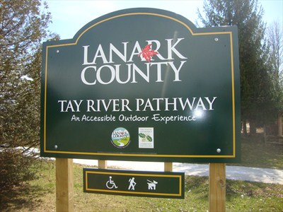 Lanark County - Tay River Pathway sign