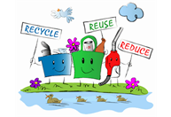 Recycle, Reuse, Reduce graphic