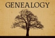 Genealogy sign with tree