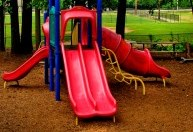 playground climber with slides