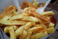 french fries from chip wagon